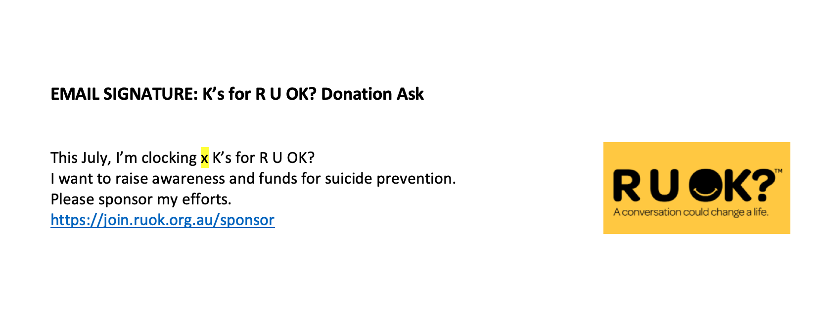 Email Signature - Donation Ask
